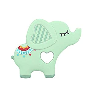 Festiday 1pc Teething Toy Sale Kids Toy, Elephent Baby Teether Silicone Soother Pacifier Chewable Pendant Gift Education…