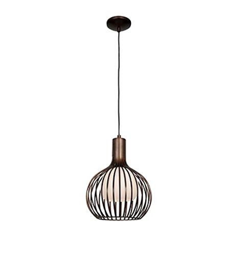 Access Lighting 23436-BRZ Chuki   One Light 12-Inch Diameter Pendant with Opal Glass Shade, Bronze Finish