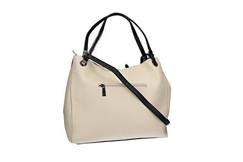Tasche damen mit Schultergurt PIERRE CARDIN weiß mit offnung zip VN1898 RNUE5b