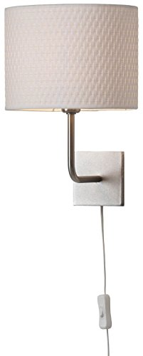 Ikea Alang Wall Lamp, Nickel Plated, White