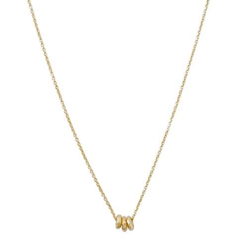 HONEYCAT Brandy 3-Ring Necklace | Minimalist, Delicate Jewelry (Gold)