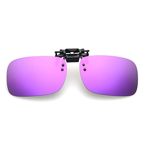 LOMOL Fashion Light Weight Polarized Nearsighted Glasses Clip-on Flip up UV Protection - Measure Frames How Spectacle To