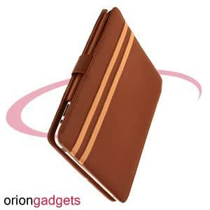 OrionGadgets® Leather Book Case for Apple iPad 1 (Brown)