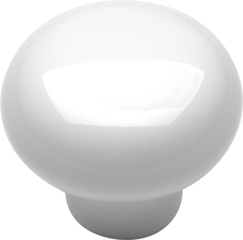 Hickory Hardware P630-W 1-3/8-Inch English Cozy Cabinet Knob, White (Country Mushroom Knobs White)