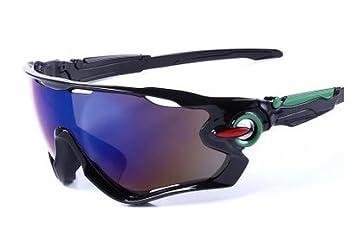 Xiton Gafas de Sol Deportivas UV400 de protección con 5 Lentes  Intercambiables para Ciclismo, béisbol 00bffb70e1