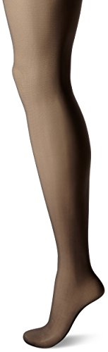 Lace Silk Pantyhose (Hanes Silk Reflections Women's French Cut Lacy Pantyhose, Barely Black,)