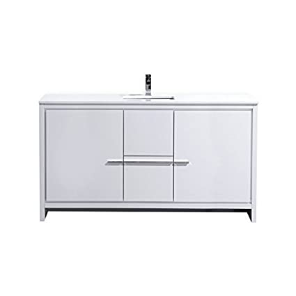 Excellent Dolce 60 Freestanding Modern Bathroom Vanity With White Download Free Architecture Designs Pushbritishbridgeorg