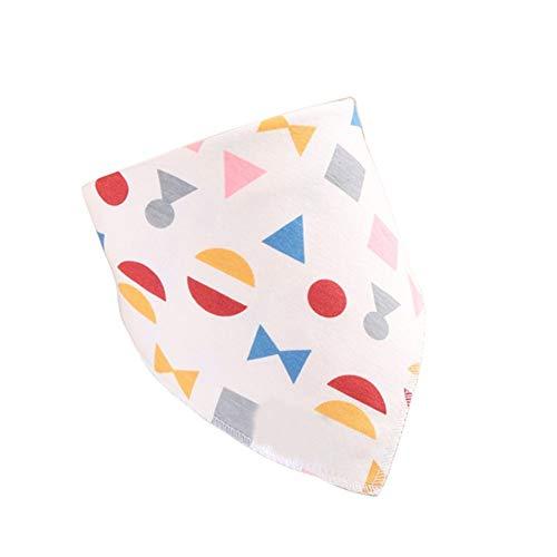 (Newborn Baby Bib Double Layers Waterproof Flower Star Triangle Collar Bandana - 5#)