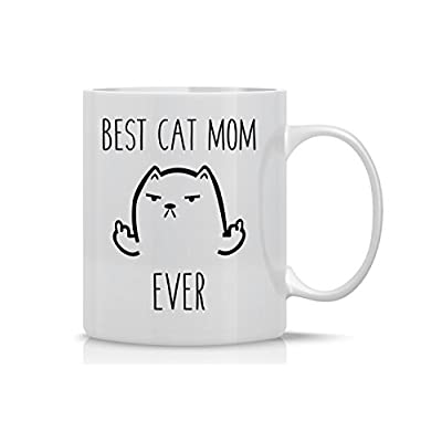Cat Fan related Products Best Cat Mom – Funny Cat Mug – 11OZ Coffee Mug –... [tag]