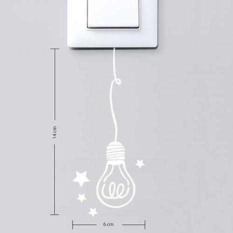 Aspect Brillant Rouge Pourpre Ampoule Sticker Interrupteur