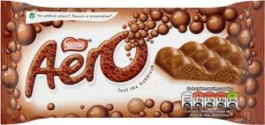 (Nestle Aero Bubbles Milk Chocolate Giant 100g Bar x 2 (200g) Imported from Ireland)