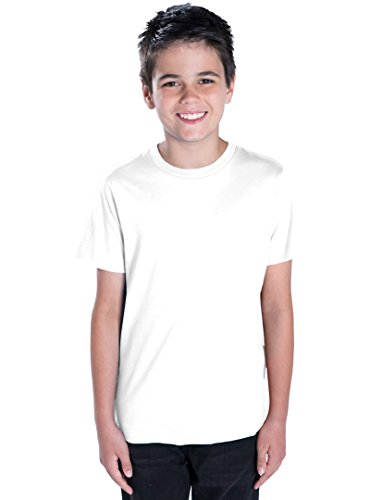 LAT Apparel Youth 100% Cotton Fine Jersey Tee [Large] White Short Sleeve T-Shirt