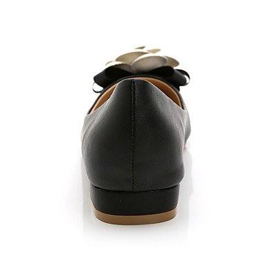 Cómodo y elegante soporte de zapatos de las mujeres pisos comodidad de primavera/verano/otoño/punta Toe/cerrado en los dedos Casual flores de tacón planas Walking negro/blanco