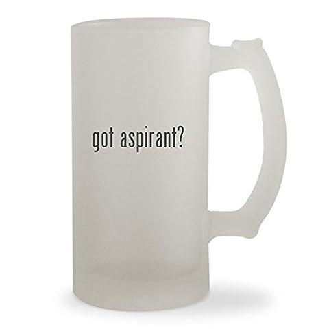 got aspirant? - 16oz Sturdy Glass Frosted Beer Stein (Nautilus Aspire Tank Glass)