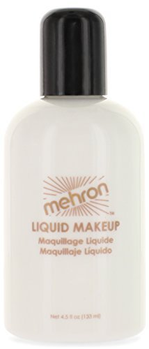 Mehron Makeup Liquid Face & Body Paint, WHITE - 4.5oz
