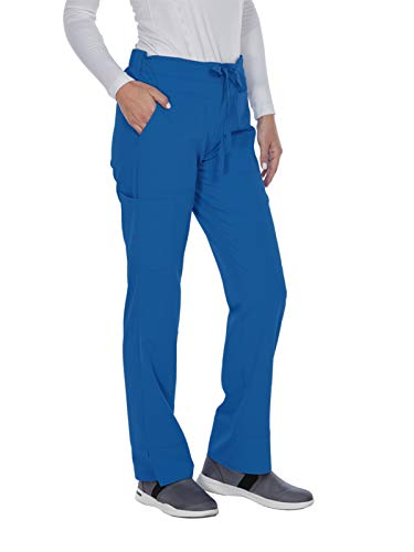 Medium New Scrubs Uniforms - Grey's Anatomy Signature Women's 3 Pocket Low Rise Scrub Pant, New Royal, Medium