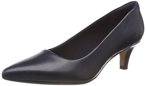 Linvale Blu Jerica Tacco Donna Clarks con Leather Navy Scarpe AwCdn7q