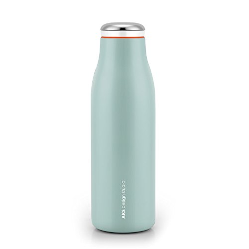 AKS Vacuum Insulated Water Bottle, Double Wall Stainless Steel Travel Mug (17oz, Green)