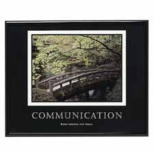 Advantus Communication Framed Poster ()