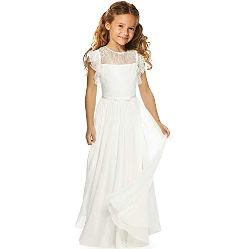 (CQDY Flower Girl First Communion Pageant Wedding Lace Chiffon Party Dress)