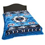 Wyndham House Blue Native American Print Blanket