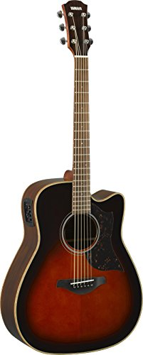 (Yamaha 6 String Series A1R Cutaway Acoustic-Electric Guitar-Rosewood, Tobacco Sunburst, Dreadnought)