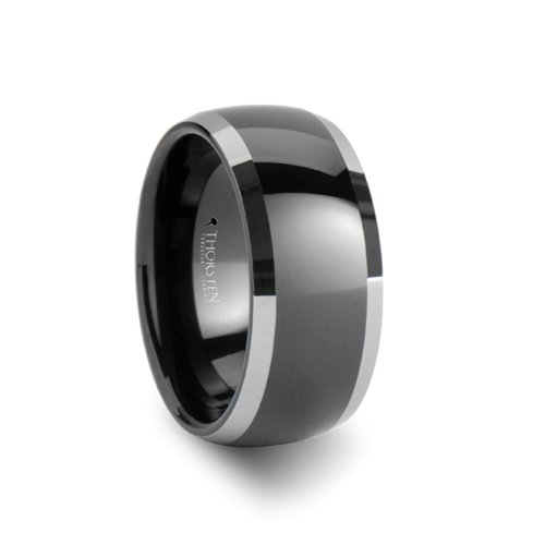 MEMPHIS Domed Black Tungsten W