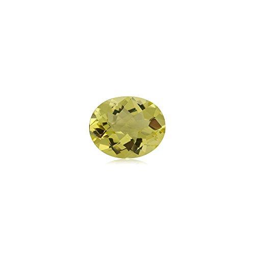 Lemon Citrine Gemstone - Mysticdrop 2.00-2.50 Cts of 10x8 mm AA Oval Checker Board Lemon Citrine (1 pc) Loose Gemstone