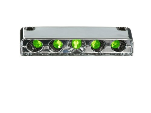 Innovative Lighting 5-Green LED Screw Mount Step Light with Chrome Case