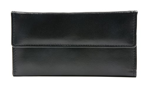 Lambskin Zippered - Ashlin Cashmere Ultra Soft leather - Lambskin Women's Wallet, Black [L5910-07-01] ...