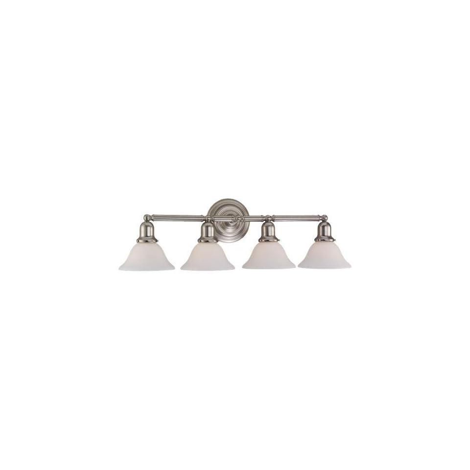 Sea Gull Lighting 44063 962 Sussex 4 Light Bathroom Vanity Light, Brushed Nickel   Vanity Lighting Fixtures
