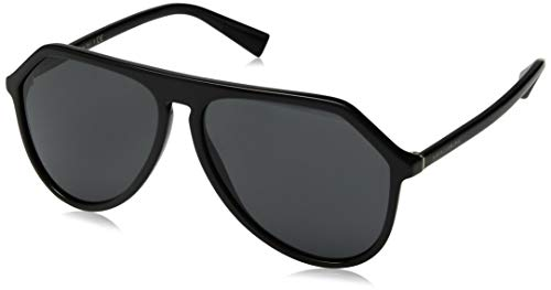 Dolce & Gabbana Men's DG4341 Sunglasses, Black/Grey, One ()