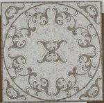 Soho Medallion Vines Oriental White & Lady Grey Square Polished - 32'' x 32''