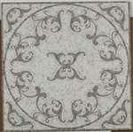 Soho Medallion Vines Oriental White & Lady Grey Square Polished - 32'' x 32'' by Buy My Tile