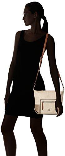 GERRY WEBER Ocean City Shoulderbag Mvz - Bolso de hombro Mujer Beige (Beige (taupe))