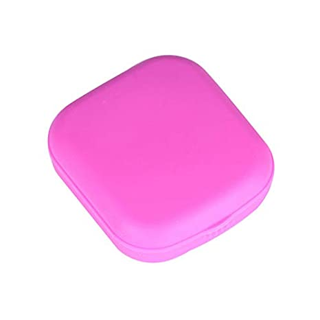 Tragbar mit Spiegelgl/äsern Aufbewahrungsbeh/älter Dastrues Reise-Set mit Mini-Kontaktlinsen Beh/älter Zum Herausnehmen Pink