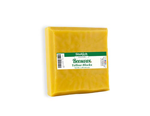 Stakich Yellow Beeswax Blocks - Natural 10 Pounds