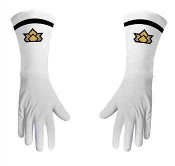 [Power Ranger Samurai Gloves Costume Accessory] (White Ranger Adult Costumes)