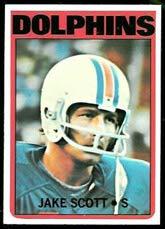 - 1972 Topps Regular (Football) card#193 Jake Scott of the Miami Dolphins Grade Very Good