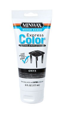 (Minwax 308084444 6 Oz Onyx Water Based Express Color Wiping Stain & Finish)
