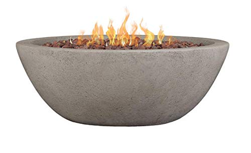 Real Flame C539LP-GLG Transform Your Backyard into an Extraordinary Entertainment Space Looking fibe Riverside Propane/Natural Gas Fire Bowl, Gray For Sale