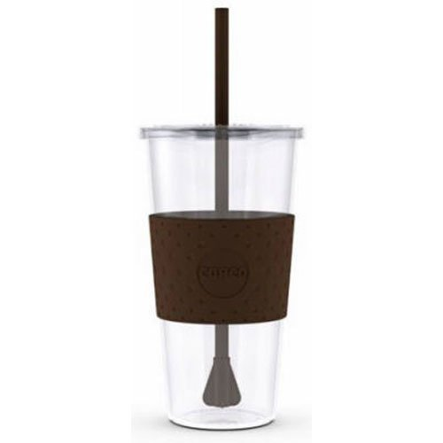 Copco Sierra Cold Tumbler with Straw, 24-Ounce, Brown