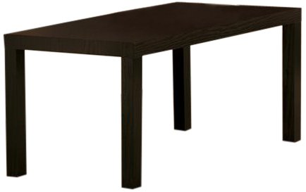 Beau DHP Parsons Modern Coffee Table, Dark Espresso