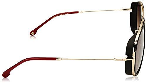 Lunettes de Soleil Carrera CARRERA 166/S GOLD BLACK/BROWN SHADED unisexe
