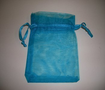 10 pack Turquoise Organza Gift and Favours Bags 7cm x 9cm Weddingandpartystore