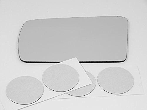 81-98 Saab 9000, 81-94 Saab 900 Left Driver Mirror Glass Lens w/Adhesive USA (Saab 900 Glass Mirror)
