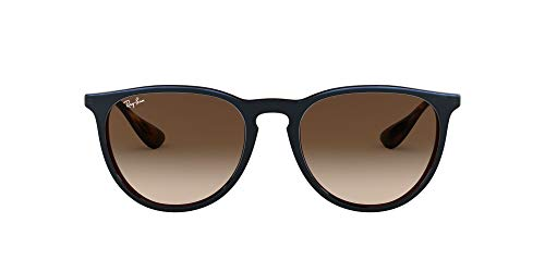 Ray-Ban RB4171 Erika Round Sunglasses, Transparent Brown Blue/Brown Gradient, 54 mm
