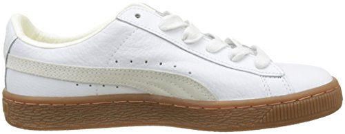 Puma Basket Classic Gum Deluxe Jr, Zapatillas Unisex Niños Blanco (Puma White-puma White)
