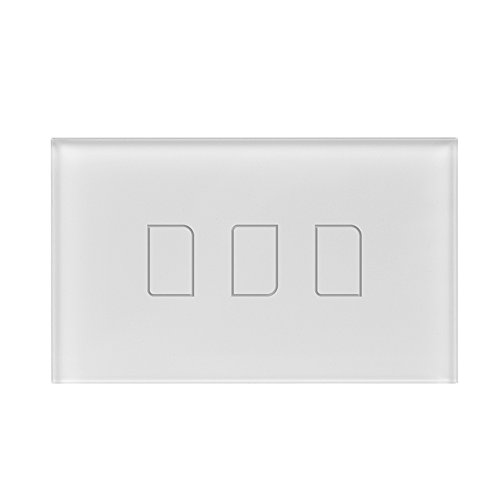 Broadlink TC2 Smart Wall Switch 3Gang Touch Switch Smart Home Automation Wireless Wifi Control LED Lights Wall Switch BLTC-2-3-US (white) Black friday Deal