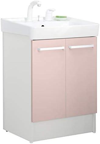 イナックス(INAX) 洗面化粧台 D7シリーズ 幅60cm 両開きタイプ シングルレバー洗髪シャワー水栓 D7N4-605SY1-W 一般地用 パステルピンク(HP2W)